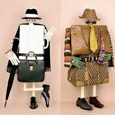 Bela Borsodi- fashion items reworked into characters