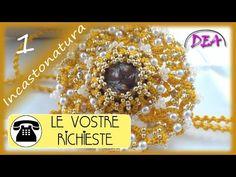 Pippiolini pendenti ricolmi di perle e cristalli e chiusura del castone. - YouTube