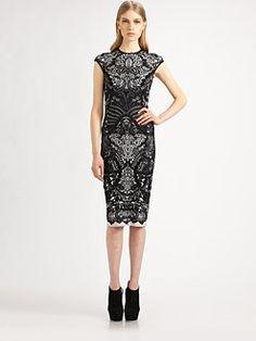 Alexander McQueen - Lace-Print Pencil Dress - WANT!!