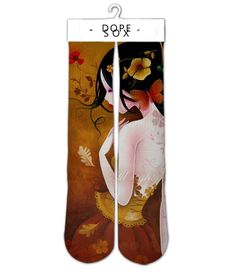 Image of Orange Asian Elite sublimated socks