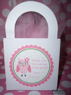 Owl Birthday Stickers  Girls Owl Birthday Party  by kidEprints, $5.99