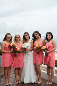 coral reef chiffon f14169 destination bridesmaid mob dress wedding