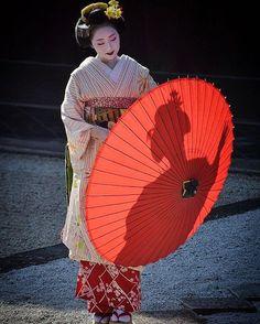 November 2016: Famous Maiko Mikako (Nishimura Okiya) of Gion Kobu at the Manpuku-ji Temple in Kyoto. Source: kuumill on Instagram