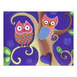 Winter Night Owls in Love Invites