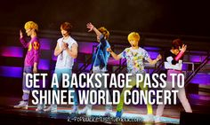 get a backstage pass to SHINee world concert