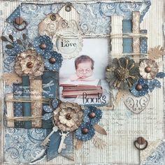 My beautiful maja design papers! Baby Scrapbook Pages, Baby Boy Scrapbook, Vintage Scrapbook, Wedding Scrapbook, Scrapbook Cards, Heritage Scrapbooking, Mixed Media Scrapbooking, Scrapbook Layout Sketches, Scrapbooking Layouts