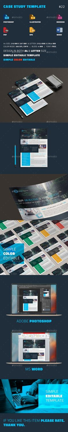 Case Study Template | #Flyer - #Newsletters Print #Templates Download here: https://graphicriver.net/item/case-study-template-flyer/19278888?ref=alena994