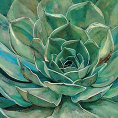 Portfolio Canvas Agave Bloom by Elinor Luna Painting Print on Wrapped Canvas | Wayfair