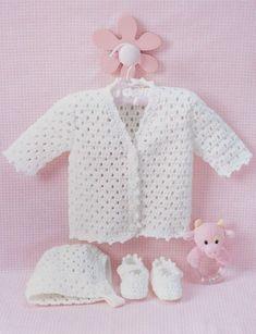 Lacy Set to Crochet - Patterns | Yarnspirations