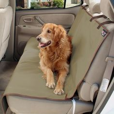 Solvit Waterproof Bench Seat Cover in Tan. You'll be very happy you have one of these after your pooch spends a day at the beach or by the lake. #PetcoPlaylist @petco