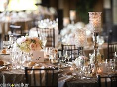 Glam wedding in blush hues