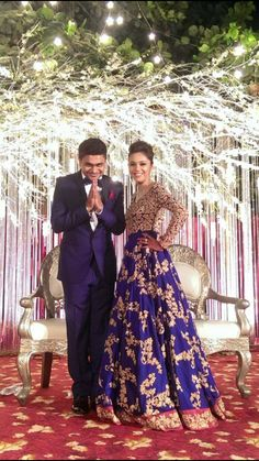 Shyamal & Bhumika More Wedding Reception Gowns, Indian Reception Outfit, Pakistani Gowns, Indian Lehenga, Bridal Looks, Bridal Style, Bridal Outfits, Bridal Dresses, Indian Dresses