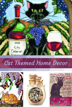 If you are crazy for cats consider using trendy, fun and cool cat themed home decor.  Cat home decor is cute, adorable and charming.  Use cat accent pillows with cat wall clocks to create a cat themed living room or bedroom.  For the kitchen consider using a nice combo of cat drinking glasses and cat kitchen decor to create a perfect cat oasis. Don't forget to finish off your  cat home decor with a cuddly cat throw blanket or a couple pieces of cat wall art.