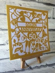 50th golden wedding anniversary card 1 golden wedding anniversary