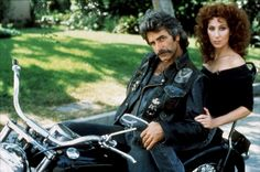 """Sam Elliott and Cher in """"Mask""""--who remembers *that* one??  a truly awful film"""