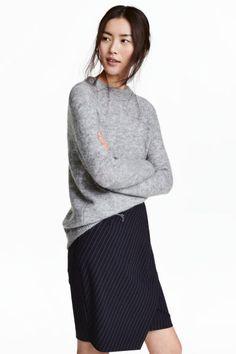 Джемпер - Серый меланж - Женщины | H&M RU 1