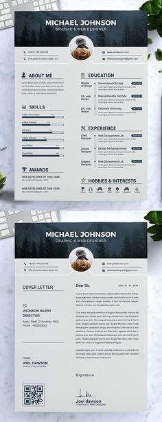 Modern Resume Template / CV Template If you like this design. Check others on m - Customer Service - Ideas of Selling A Home Tips - Modern Resume Template / CV Template If you like this design. Check others on my CV template board Thanks for sharing! Modern Resume Template, Resume Design Template, Creative Resume Templates, Best Cv Template, Free Cv Template Word, Cv Templates Free Download, Website Design, Website Layout, Layout Print