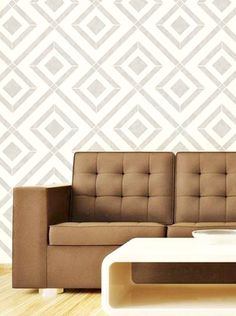 Stencil Wall Geometic Pattern Wall Room Decor Made by OMG Stencils Home Improvements Color Paintings 0113