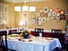 Как интересно задействовать декоративные тарелки в интерьере