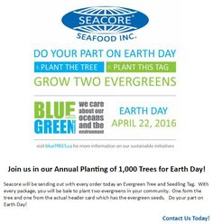 Join us in planting 1,000 trees in our community today! Trees are on their way! Earth Day