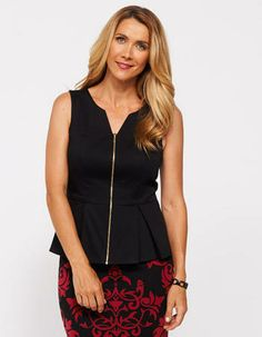 Image for Lioni Peplum Top from JacquiE