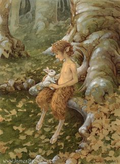 The White Hare Faun and Bunny Greeting Card by brownieman on Etsy, $2.75
