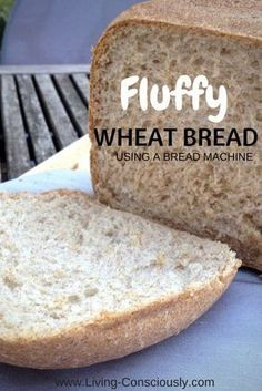 Fluffy Wheat Bread with a Bread Machine Fluffy Wheat Bread mit einer Brotmaschine – Bread Machine Wheat Bread Recipe, Bread Maker Recipes, Breadmaker Bread Recipes, Bread Machine Recipes Healthy, Real Food Recipes, Cooking Recipes, Yummy Food, How To Make Bread, Food To Make