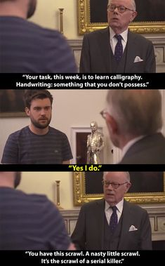And when Michael set him this challenge. 14 Times Jack Whitehall's Dad Gave No Fucks British Humor, British Comedy, Bad Education, Jack Whitehall, Text Jokes, Are You Not Entertained, Bbc Tv, Geek Humor, Funny Tumblr Posts