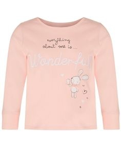 Our Bunny pyjamas for girls have a lovely embroidery which really is wonderful - just like your little girl.  Cute bunny bow detail 'Everything About Me Is Wonderful' slogan Embroidery 100% Superfine Cotton Soft Elasticated waist and pant seam detail