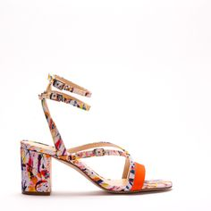 This playfulsandalwill bring joy to any occasion this summer.The print in recycled polyester is part of a collaboration with the swedish artist Jose
