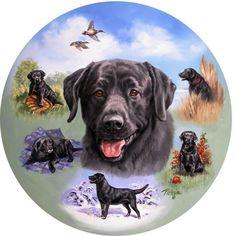 Linda Picken Decoupage, Dog Paintings, Black Labrador, Hunting Dogs, Collage Sheet, Cool Artwork, Labrador Retriever, Dog Cat, Gallery