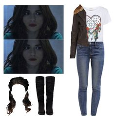 """Allison Argent - tw / teen wolf"" by shadyannon ❤ liked on Polyvore featuring Denim & Supply by Ralph Lauren, Forever 21 and River Island"