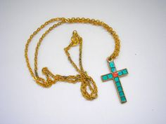 Enamelled cloisonnes gold tone metal necklace with by badgestuff, $4.00