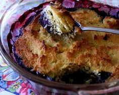 24/7 Low Carb Diner: Berry Cobbler, using coconut flour for the topping [Batter: 1/2 cup melted butter, 4 eggs, 1/2 teaspoon vanilla extract, 1/3 cup Ideal Sweetener, 1/2 cup coconut flour, 1/4 teaspoon baking powder]