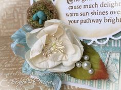 Spring Card, Sweet Sentiments, by Danielle Copley, product by Graphic 45