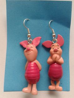 Disney Winnie The Pooh Piglet Dangle Earrings By Simplyproducts