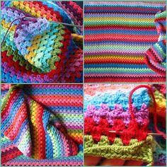 Crochet pattern for blanket Love Crochet, Diy Crochet, Crochet Crafts, Yarn Crafts, Crochet Baby, Crochet Afghans, Crochet Granny, Crochet Stitches, Little Girls