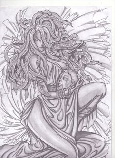Medusa 2 by Osmar-Shotgun on DeviantArt Medusa Drawing, Medusa Art, Medusa Gorgon, Medusa Tattoo, Tattoo Sketches, Tattoo Drawings, Art Sketches, Art Drawings, Medusa Kunst