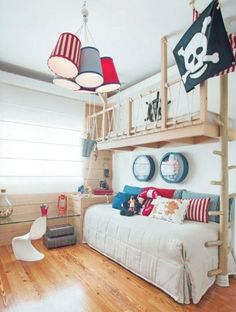 A Little Boy's Playground | #boys #bedroom #pirates