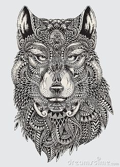Highly Detailed Abstract Wolf Illustration - Download From Over 38 Million High Quality Stock Photos, Images, Vectors. Sign up for FREE today. Image: 45324368