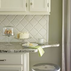 A stunning kitchen created from a #patterned #mesh for the design of the kitchen backsplash!
