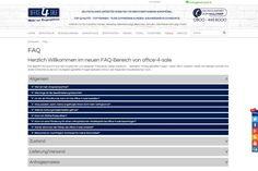 Der neue informative #FAQ-Bereich bei office-4-sale ist veröffentlicht! Lest in diesem Online-Frage-Antwort-Katalog auf einen Blick die #Antworten zu den wichtigsten #Fragen bei der #Büroeinrichtung nach. Kurz und bündig informieren wir euch z.B. über den Bestellvorgang im #Onlineshop, den Zustand der #Büromöbel oder auch über die #Lieferzeiten.