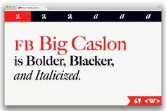 Big Caslon Typeface