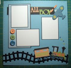 All Boy scrapbook Layout