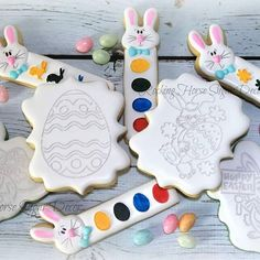 Paintable Easter cookies. #rockinghorsesugardecor #customdecoratedcookies #edibleart #artisancookies #paintcookies #twinfallssugarcookies #magicvalleycookies #kimberlyidahosugarcookies