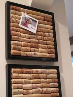 Homemade Cork Board- love this!   Good excuse to drink more wine!