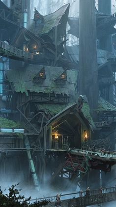 Fantasy Concept Art, Fantasy Artwork, Fantasy Landscape, Landscape Art, Fantasy Places, Playing Games, Story Ideas, Dungeons And Dragons, Castles