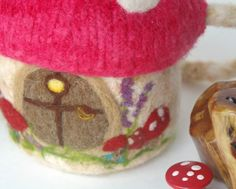 gnome house by BeneathTheRowanTree on etsy - pattern for knitting and felting - $8.50