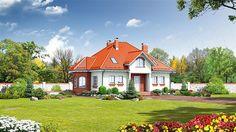 projekt Zarzecze średnie KRP1238 Home Fashion, Mansions, House Styles, Home Decor, Living Room, Decoration Home, Manor Houses, Room Decor, Villas
