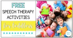 Free Speech Therapy Activities for Toddlers and Preschoolers Speech Therapy Activities, Learning Activities, Toddler Preschool, Toddler Activities, Language Development, Communication Skills, Childrens Books, Teacher, Therapy Ideas
